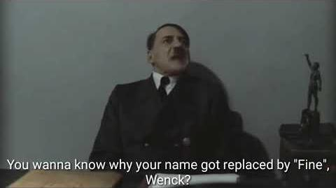 """Walther Wenck (Gino Guard) informs Hitler why his name was replaced by """"Fine"""""""