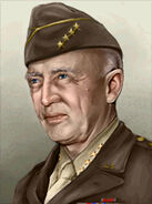 Portrait USA George S Patton