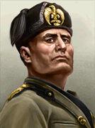 Portrait Italy Benito Mussolini