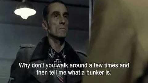 Ask Goebbels What's a bunker?