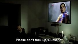 Hitler watching Gunsche in Eurovision