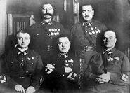 First 5 Marshals of USSR, Mikhail Tukhachevsky, Semyon Budyonny, Kliment Voroshilov, Vasily Blyukher, Aleksandr Yegorov 11-11-1935