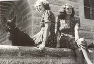 HISTORY - WWII - PHOTO - Eva Braun with sister Gretl at the Kehlsteinhaus-ww2shots-people