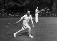 Heinrich Himmler playing tennis with Karl Wolff circa 1941