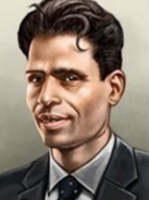 Portrait British Raj P. Krishna Pillai