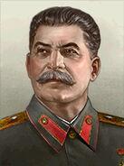 Portrait Soviet Joseph Stalin