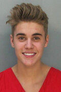 Justin bieber mugshot 0