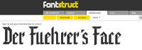 Der Fuehrer's Face type font preview