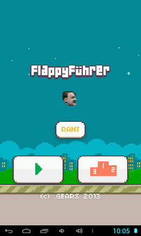 Flappy Fuhrer title screen