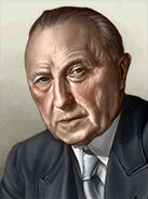 Portrait Germany Konrad Adenauer