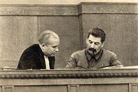 Nikita Khrushchev and Joseph Stalin January 1936