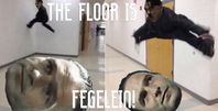 The floor is fegelein with text