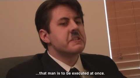 Scene Reenactment Hitler Is Informed (with Original Subtitles)