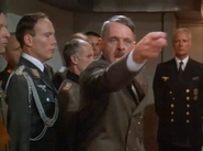 The Bunker Hitler points at generals