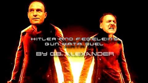 Downfall Equilibrium parody Hitler and Fegelein's gun kata duel