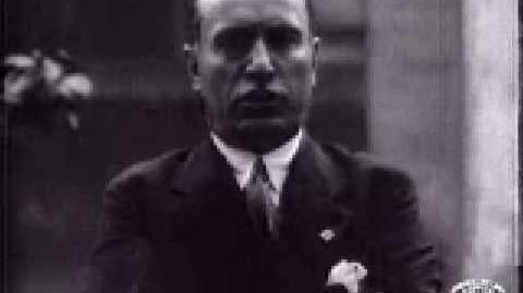 (Very Rare!) Mussolini's Speech - in English! (1929 Fox Movietone Newsreel)