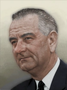 Portrait USA Lyndon B. Johnson