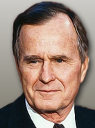 Portrait George H W Bush