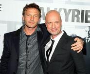 Thomas Kretschmann and Christian Berkel at Valkyrie premiere