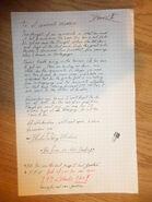 MTM letter