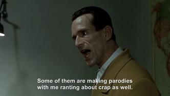 Goebbels rants about Downfall Parodies