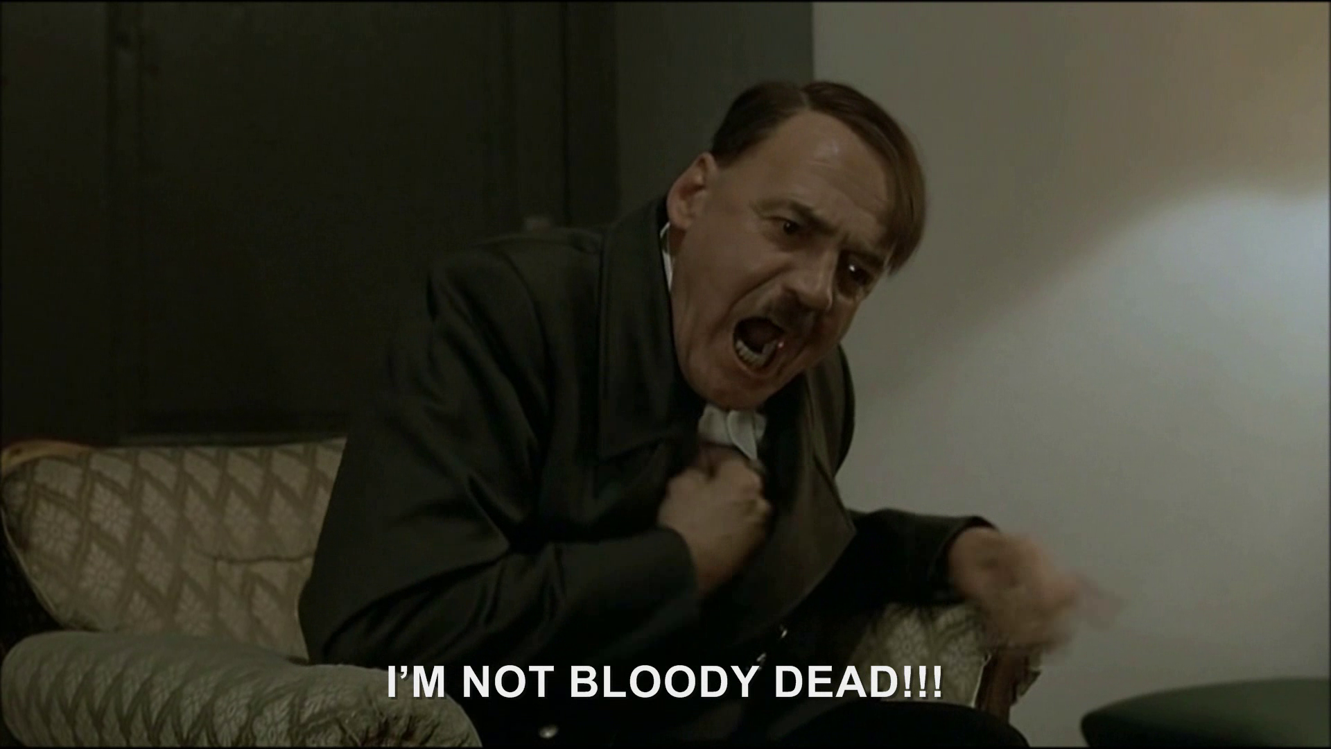 Hitler gets a report on his death   Hitler Rants Parodies ...