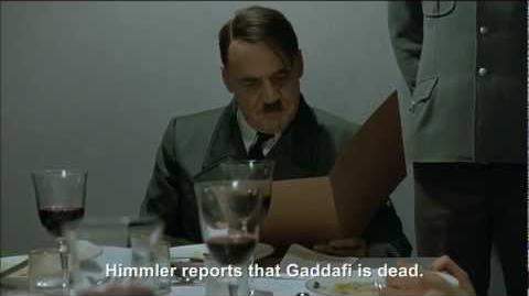 Hitler is informed Gaddafi has been killed