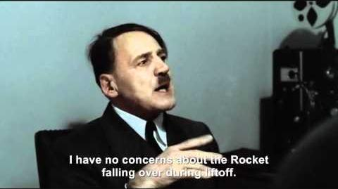 Hitler is informed his Moon Rocket is ready