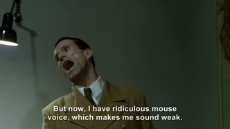 Goebbels rants about his mouse voice