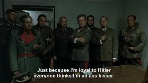 Goebbels rants about being called a Hitler ass kisser