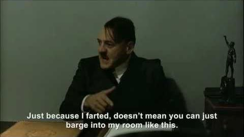 Hitler lets one off