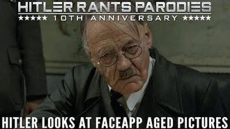 Hitler looks at FaceApp aged pictures