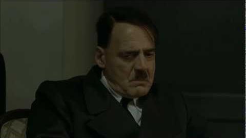 Chicken noises in Hitler's office