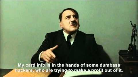 Hitler is informed hackers may have stolen about 2.2 million credit cards from PSN