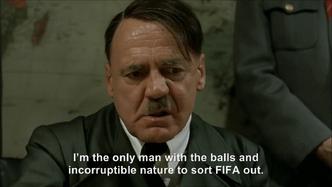 Hitler plans to run for FIFA president