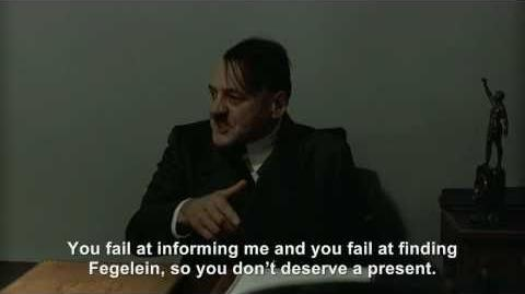 Hitler is informed Grawitz and Günsche want an iPad for Christmas