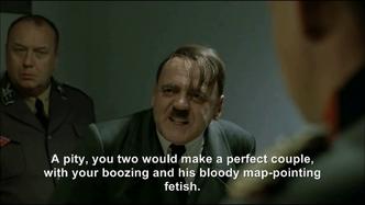 Hitler's weak voiced rant