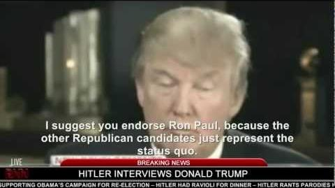 Hitler interviews Donald Trump