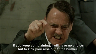 Hitler's fight, win and prevail plan