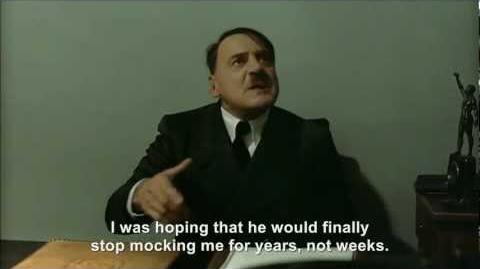 Hitler is informed hitlerrantsparodies is taking a break from making parodies
