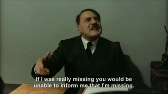 Hitler is informed Hitler is missing