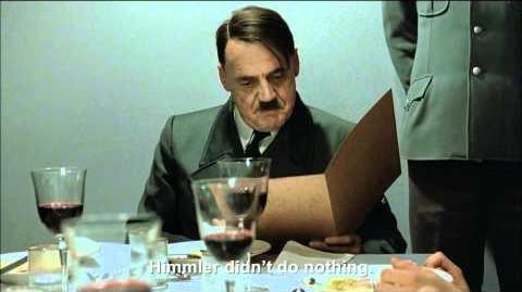 Hitler is informed Himmler didn't do nothing
