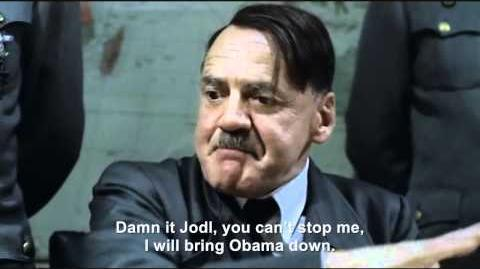Hitler interrupts President Obama's speeches