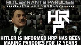Hitler is informed HRP has been making parodies for 12 years