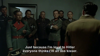 Goebbels does not like being called a Hitler ass kisser