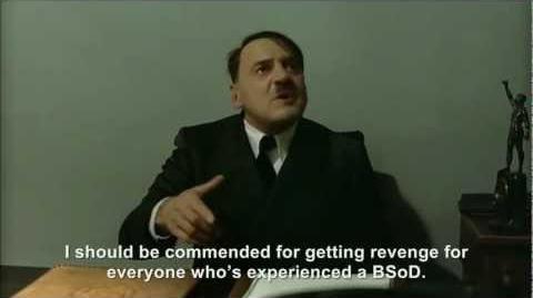 Hitler throws a pie at Bill Gates