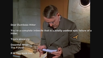 Hitler plans to send an insulting message to The Bunker Hitler