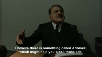 Hitler is asked about the pop-up ads on YouTube