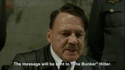 """Hitler plans to send an insulting message to """"The Bunker"""" Hitler"""