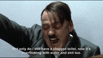 Hitler is informed Himmler did not unclog his toliet